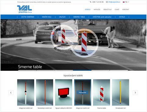 Nova podoba spletne strani Val Plastika d.o.o.