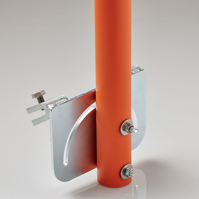 Metal and concrete barrier snow pole